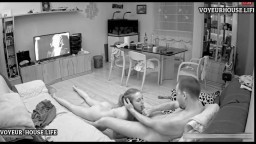 Reallifecam Martina and Alberto blowjob in the living room
